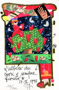 Francesco Musante - L'albero dei cuori è sempre fiorito cm 10x15