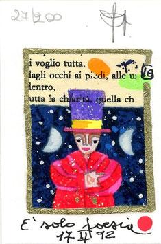 """Francesco Musante """"È solo poesia"""" cm 7x10 bianco"""