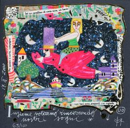 Francesco Musante - Insieme voleremo rincorrendo i nostri sogni cm 20x20