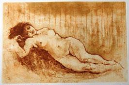 """Giuliana Pazienza """"Figura solare 2000"""" cm 50x69,5"""