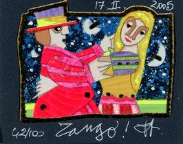 Francesco Musante - Tango - cm 8x10 su cartoncino bianco