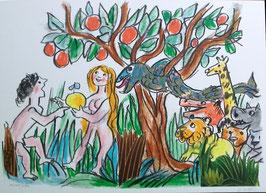 Emanuele Luzzati - Adamo e Eva