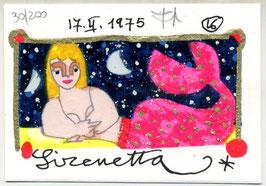 "Francesco Musante ""Sirenetta"" cm 7x10 bianco"