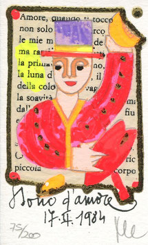 "Francesco Musante ""Dono d'amore"" cm 6x10 bianco"