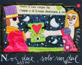 Francesco Musante - Noi due, solo noi due - cm 8x10 blu