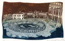 """F. Tresoldi """"La Reggia di Venaria"""" cm 35x25"""