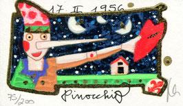 "Francesco Musante ""Pinocchio"" cm 6x10 bianco"