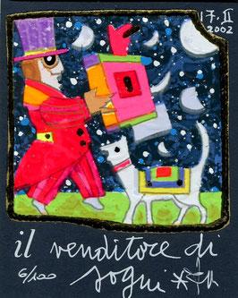 Francesco Musante - Il venditore di sogni cm 8x10 blu