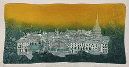 "F. Tresoldi ""Torino - panorama"" cm 35x50"