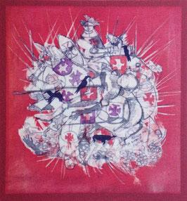 "Francesco Nex ""Battaglia per un simbolo, 2012"" cm 27,5x29"