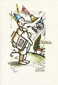 "Stefano Ramunno ""Pinocchio"" cm 17,5x25"