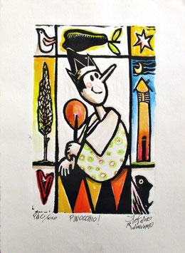 "Stefano Ramunno ""Pinocchio"" cm 24,5x35"