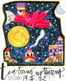 Francesco Musante - Teatrino notturno - cm 8x10 bianco