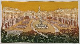 F. Tresoldi - Torino, piazza San Carlo cm 35x50