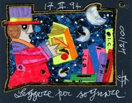 Francesco Musante - Leggere per sognare cm 8x10 blu