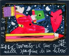 Francesco Musante - Ho trovato il tuo cuore nelle pagine di un libro cm 8x10 blu