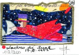 """Francesco Musante """"Ladro di lune"""" cm 7x10 bianco"""