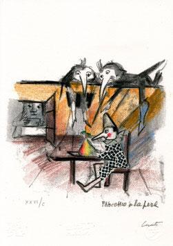 Emanuele Luzzati - Pinocchio e la pera