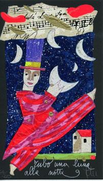 """Francesco Musante """"Rubo una luna alla notte"""" cm 10x17 nero"""