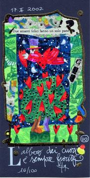 Francesco Musante - L'albero dei cuori è sempre fiorito cm 10x20 blu