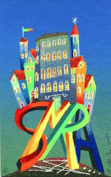 Meloniski da Villacidro - Piccola città surreale cm 11x17,5