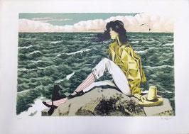 """Giovanni Battista De Andreis """"Vento di mare"""" cm 50x70"""
