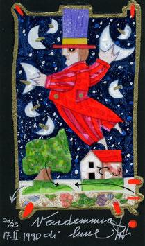 """Francesco Musante """"Vendemmia di lune"""" cm 10x17 nero"""