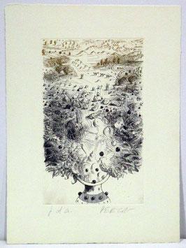 Tullio Pericoli - Vaso e paesaggio, 1996