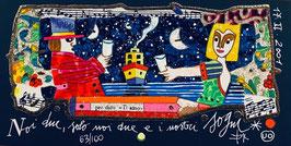 Francesco Musante - Noi due, solo noi due e i nostri sogni cm 10x20 blu