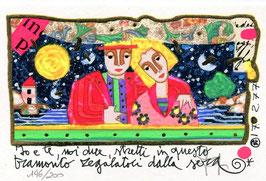 Francesco Musante - Io e te, noi due, stretti in questo tramonto regalatoci dalla sera cm 10x15