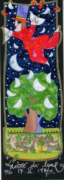 """Francesco Musante """"Ladro di lune"""" cm 8x23 nero"""
