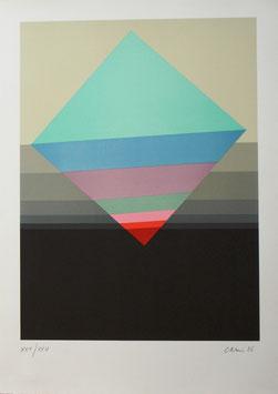 """Eugenio Carmi """"Deviazione quadrata"""" cm 50x70"""