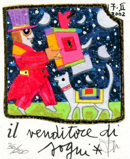Francesco Musante - Il venditore di sogni cm 8x10 bianco