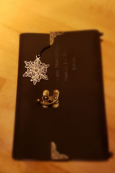 Buchzeichen mit 18K Blattgold oder versilbert