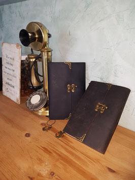 Handgefertigtes Vintage-Design Notizbuch mit echt Leder Einband