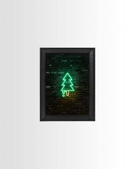 Neon Waldmeister | Fine-Art Print mit Rahmen | 13x18 cm