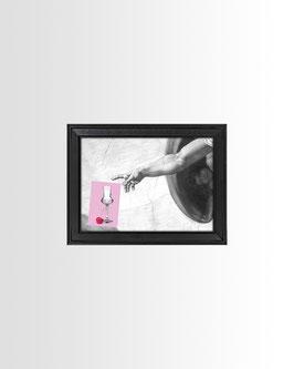 Gott & Schnaps | Fine-Art Print mit Rahmen | 18x13 cm