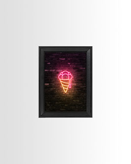 Neon Gelato Tradizionale   Fine-Art Print mit Rahmen   13x18 cm