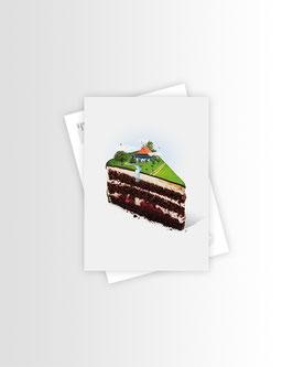 Cherrycake   Postkarte
