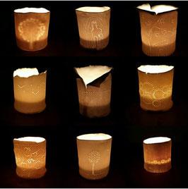 - kadobon vanaf 3 personen boetseren van theelichtjes in porselein -
