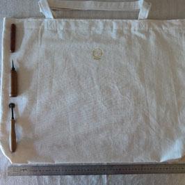 Tote bag très grande taille XL, 2 anses,  62cm x 52cm TBXL2x