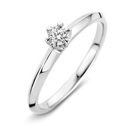 Ring witgoud met briljant VS216346