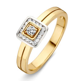 RIng bicolor goud met briljant VS416152