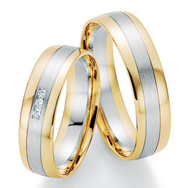 Ringen Bicolor goud en Briljant CR-HPB1
