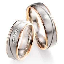 Ringen Bicolor goud en Briljant CR-HSC7