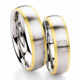 Ringen Staal Goud en Briljant CR-SG5