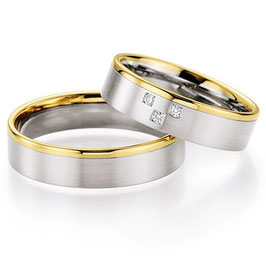 Ringen Bicolor goud en Briljant CR-HSD8