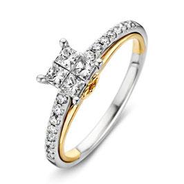 Ring bicolor goud met briljant VS416463