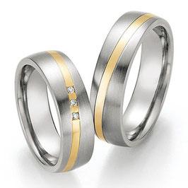 Ringen Staal Goud en Briljant CR-SG4