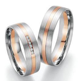 Ringen Bicolor goud en Briljant CR-HPB5